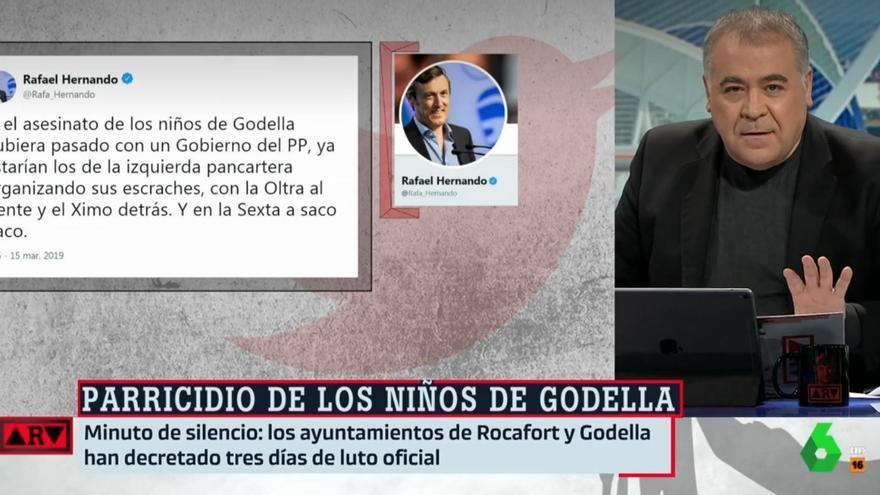 """Ferreras, responde a Hernando por usar el crimen de Godella para atacar a la izquierda: """"Indecente, apestoso"""""""