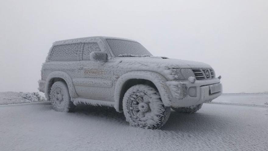 Izaña se congeló diez veces en febrero y registró rachas de viento de 133 kilómetros por hora