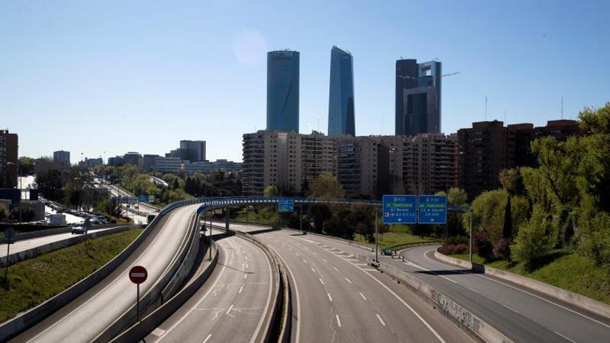 Madrid, sin tráfico durante el estado de alarma por el coronavirus.