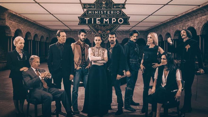 Cartel oficial de la segunda temporada de El Ministerio del Tiempo
