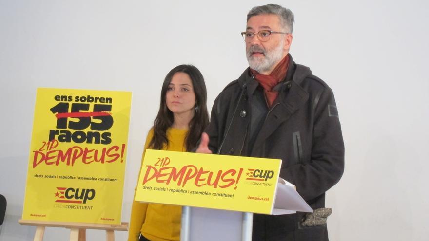 """La CUP afirma que la decisión del TS demuestra que la judicatura actúa """"ideológicamente"""""""