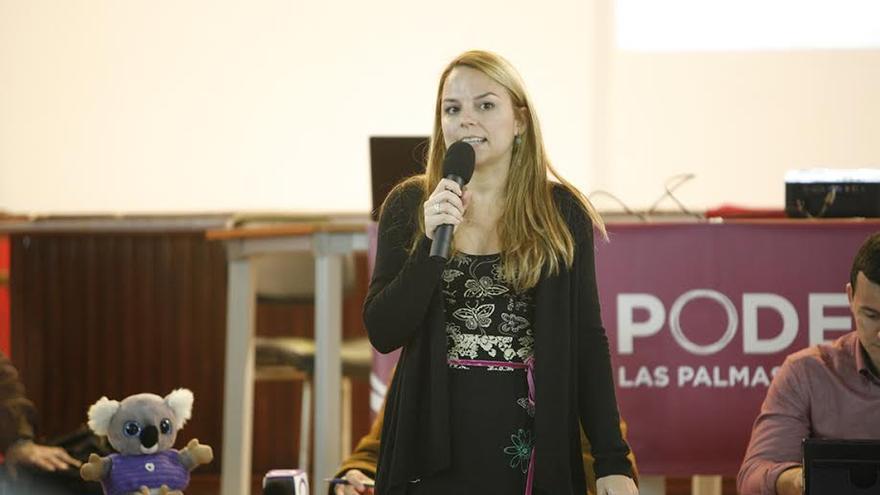Noemí Santana, candidata de Podemos al Gobierno de Canarias. (ALEJANDRO RAMOS)