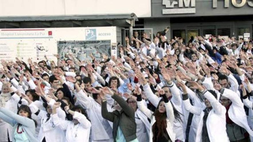 Marea Blanca en defensa de la sanidad pública. Madrid. Archivo