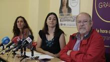 Los tres concejales electos de Vamos Granada, Luis de Haro-Rossi a la derecha.