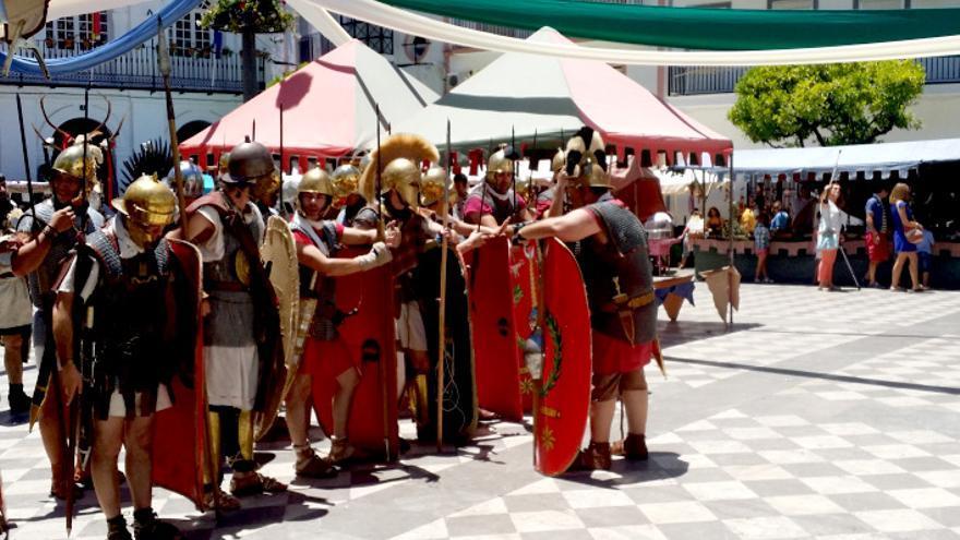 Una de romanos en pleno Ubrique.