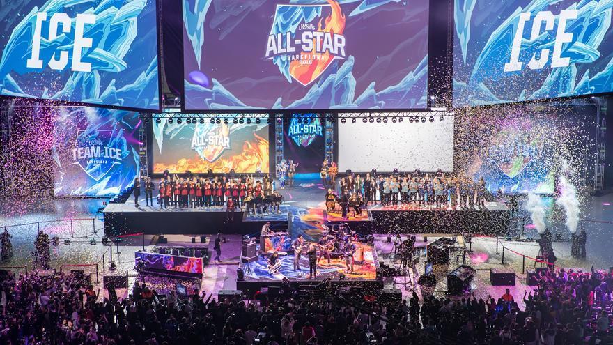 El Palau Sant Jordi, en el que se montaron tres pantallas gigantes, se llenó en los All-Star de LoL