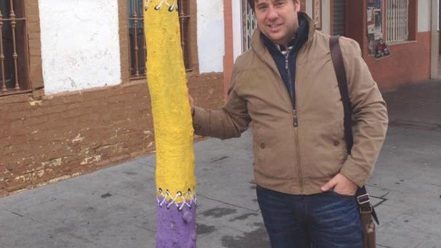 David Díaz, portavoz de los cinco concejales del PSOE en el Ayuntamiento de Lepe.