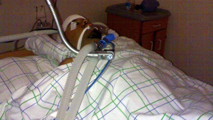 Said Sidahmed Dambar en el hospital.