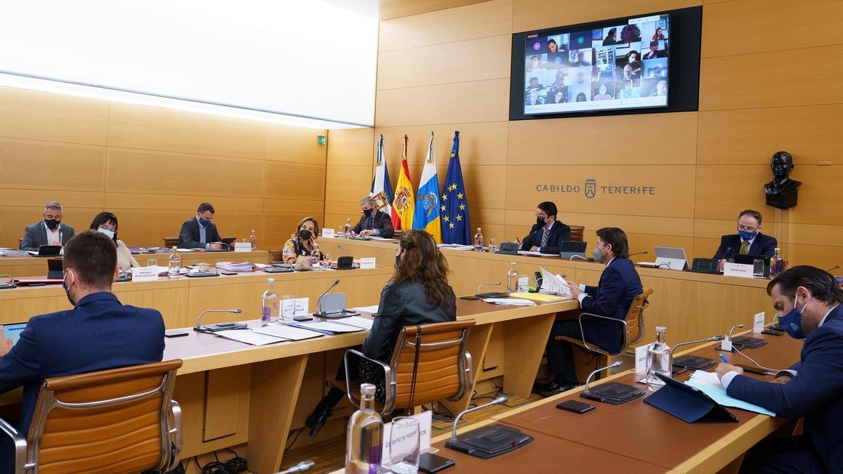 El Cabildo de Tenerife celebró este viernes sesión plenaria.EFE/Ramón de la Rocha