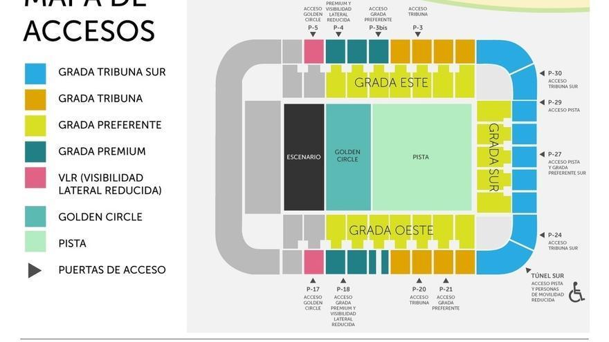 Dispositivo especial de tráfico y transporte público por el concierto de Enrique Iglesias