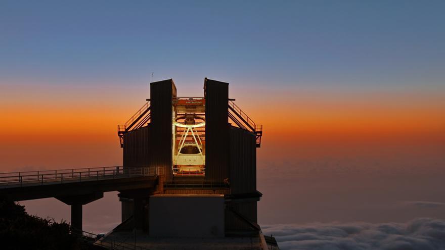 Telescopio Nazionale Galileo (TNG), en el observatorio de El Roque de Los Muchachos. Foto: G.Tessicini/TNG.