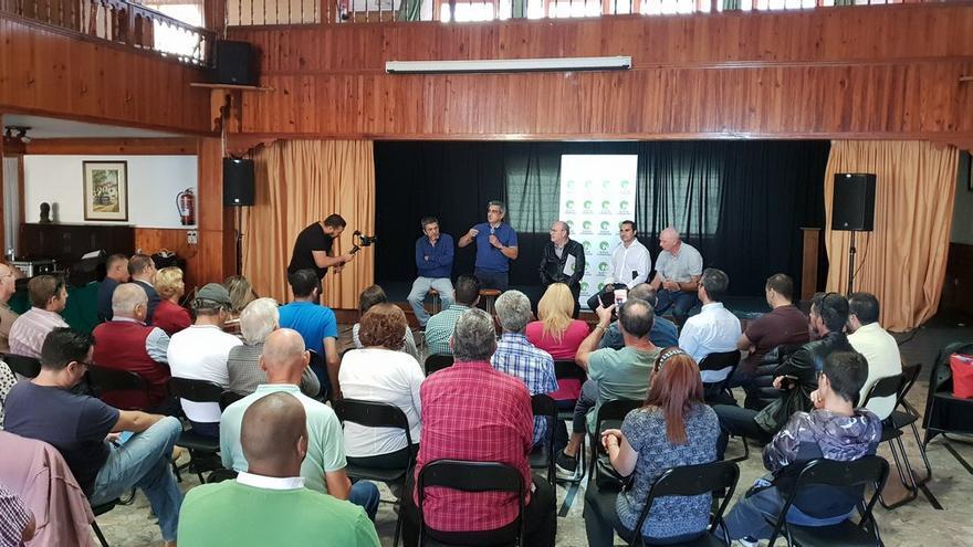 Román Rodríguez, presidente de NC, esta mañana de sábado en la cita '#Canariasconfuturo' en Icod