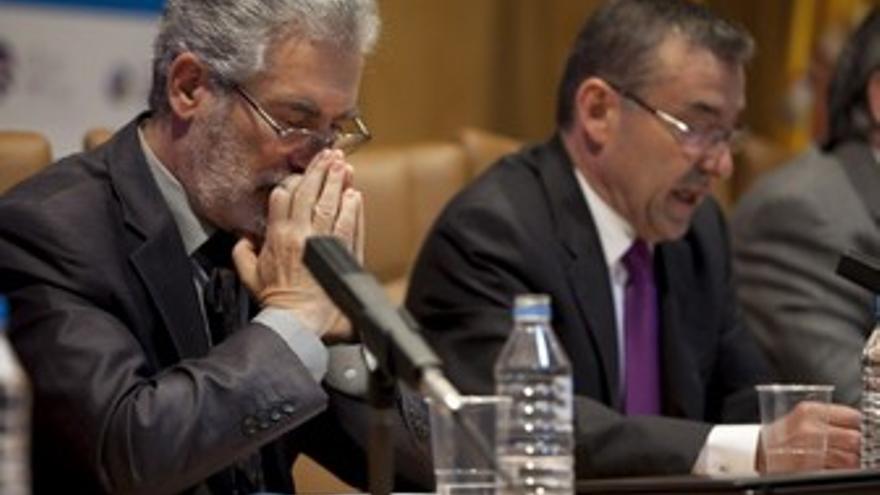 José Regidor con Paulino Rivero. (ACN PRESS)