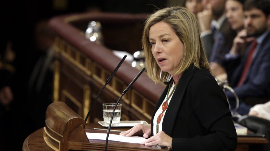 La diputada de Coalición Canaria Ana Oramas durante su intervención en el debate de investidura
