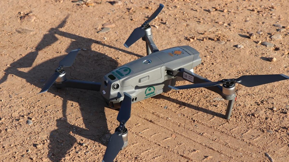 El dron que entra en activitat a Sagunt.