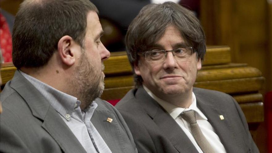 """Junqueras dice que el Govern cumplirá """"con el mandato democrático"""", al margen de la decisión del Constitucional"""
