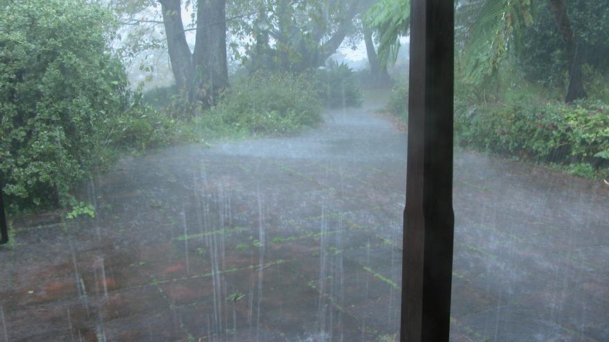 Imagen de archivo de un día de lluvia en La Palma.