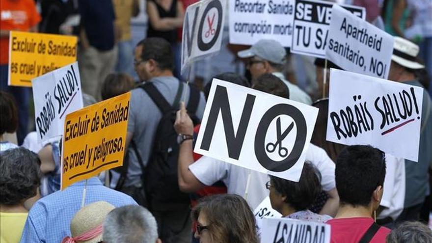Imagen de archivo de una manifestación en defensa de la sanidad pública.