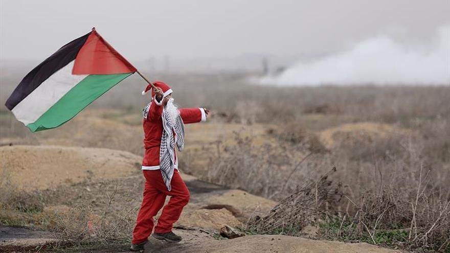 Choques en la protesta palestina contra la declaración de Trump sobre Jerusalén