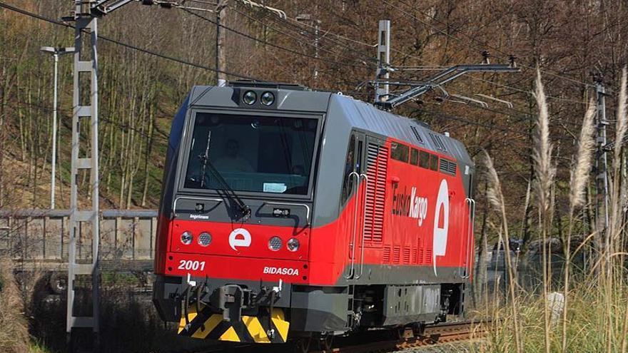 Una de las locomotoras de Euskotren Kargo.