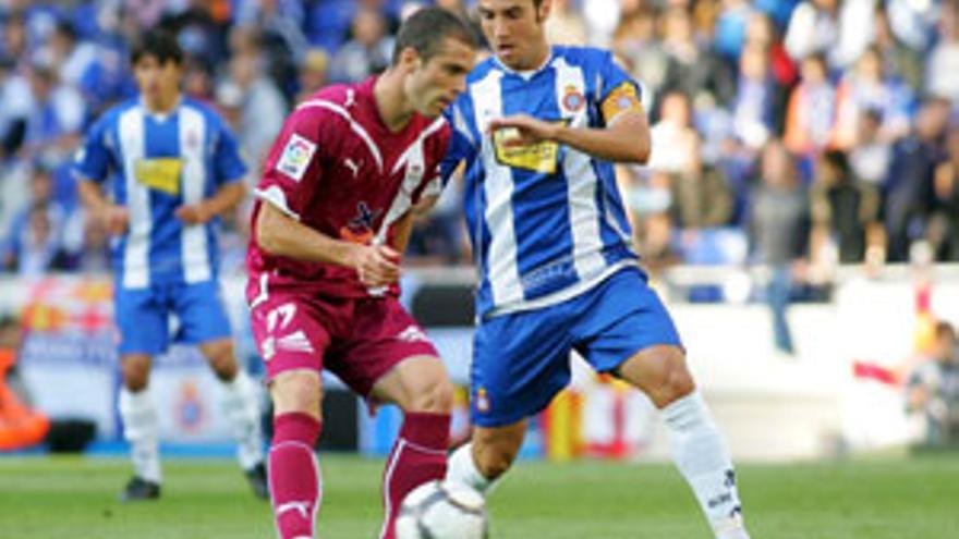 Juanlu reapareció en Cornellá- El Prat. (ACFI PRESS)