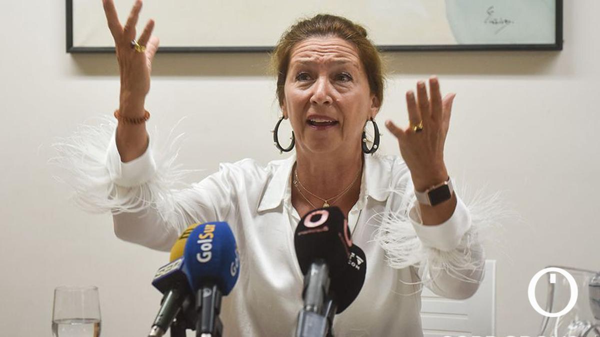 Magdalena Entrenas, en una comparecencia pública.
