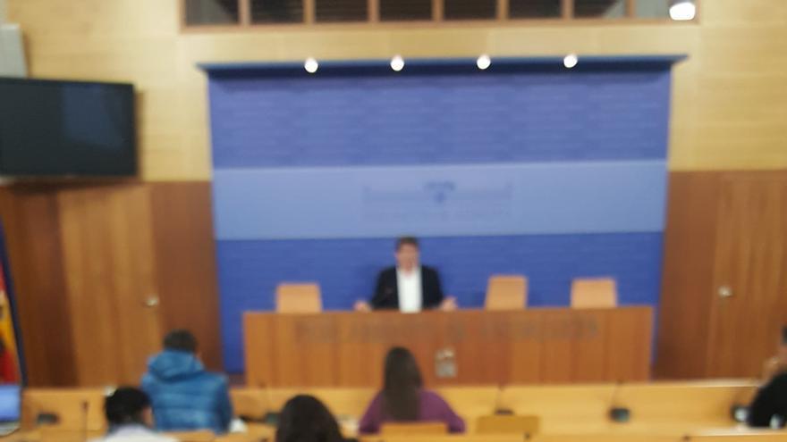 Juan Marín en rueda de prensa este miércoles.