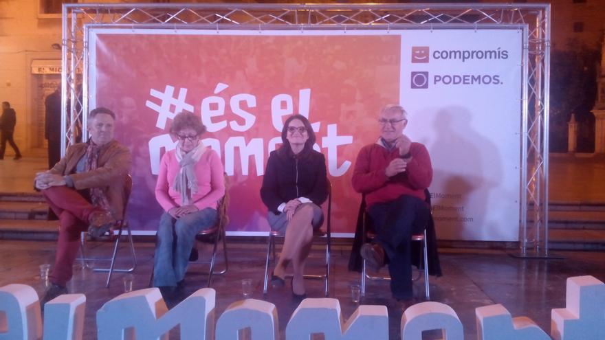 Enric Bataller, Dolors Pérez, Mónica Oltra y Joan Ribó