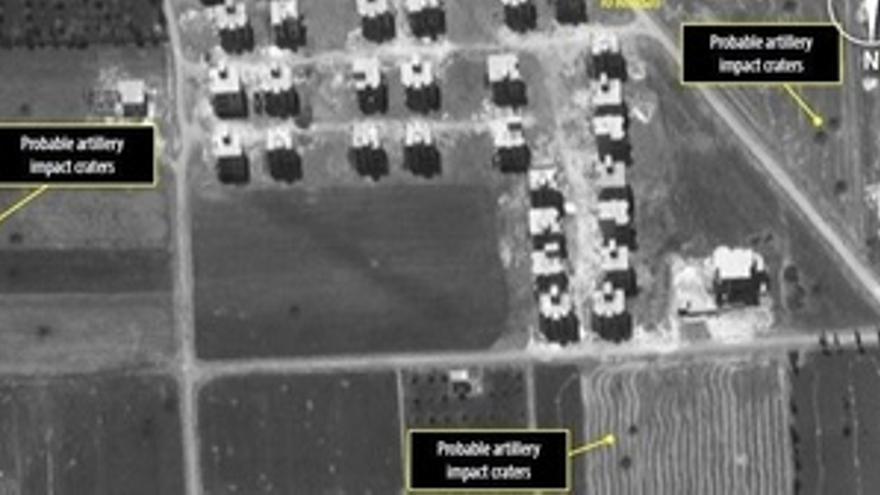 Imágenes por satélite de Alepo (Siria)