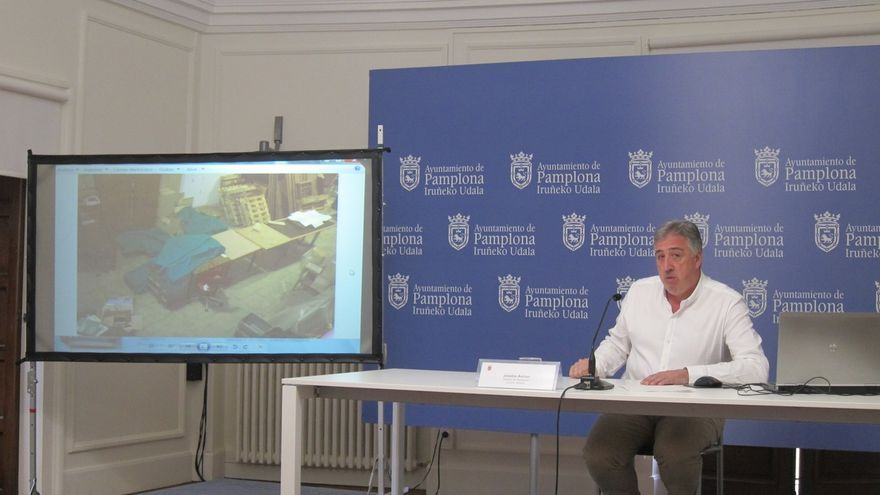 """Hallan en un almacén municipal de Pamplona 14 cajas con restos arqueológicos, """"en situación de abandono"""" durante 24 años"""