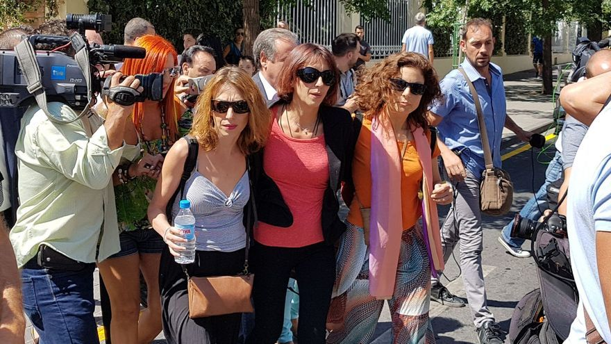 Juana Rivas tras declarar en el juzgado