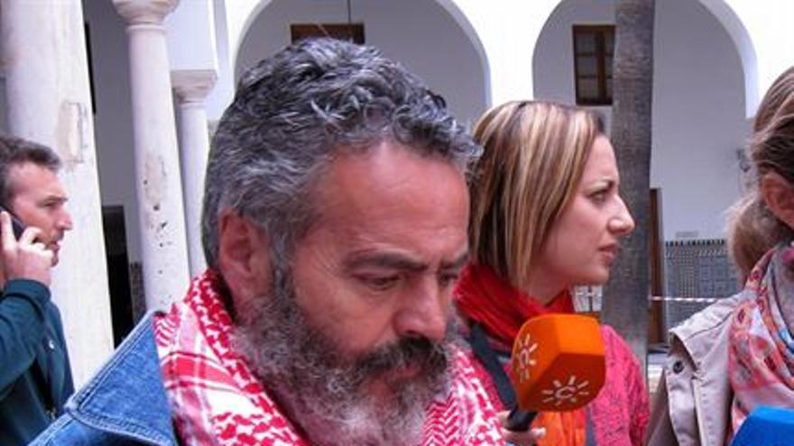 Sanchez Gordillo, parlamentario de IULV-CA por Sevilla.