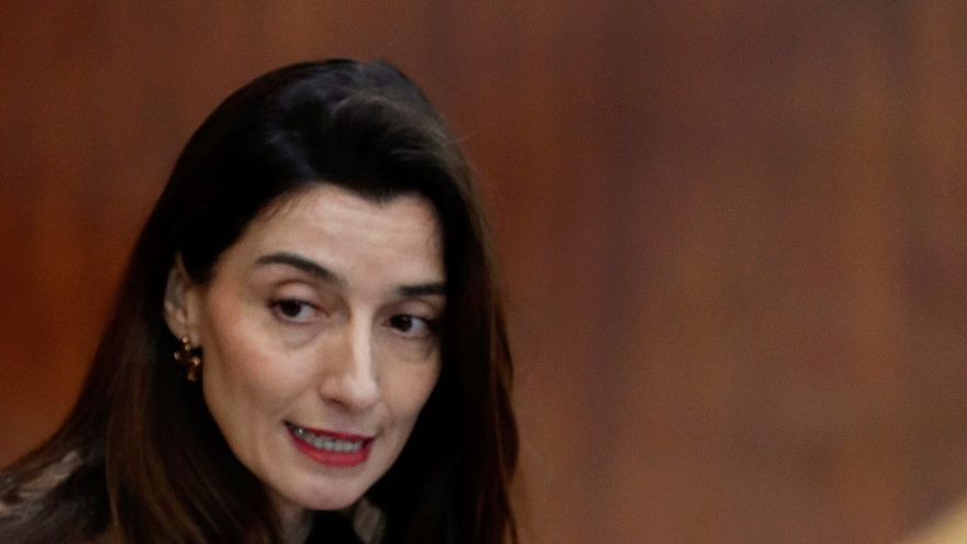 La diputada Pilar Llop en la Asamblea de Madrid.