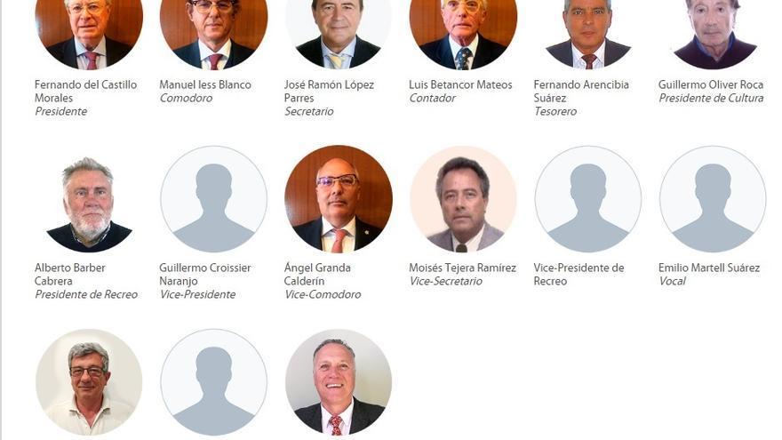 Actual Junta Directiva del Club Náutico de Gran Canaria.