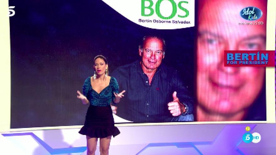 Nuria Marín presentó 'BOS', un partido político para Bertín Osborne
