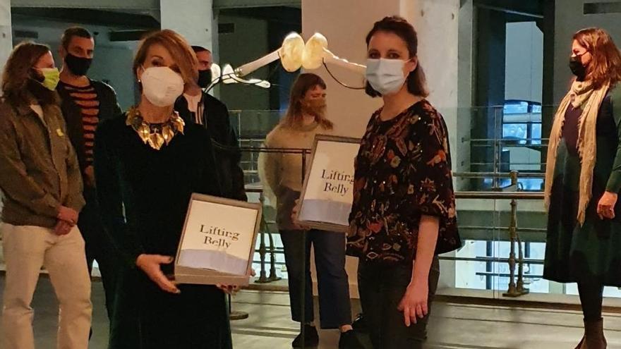Patrizia Sandretto y Andrea Levy, en CentroCentro, en la inauguración de la exposición Lifting Belly de la Fundación Sandretto Re Rebaudengo.