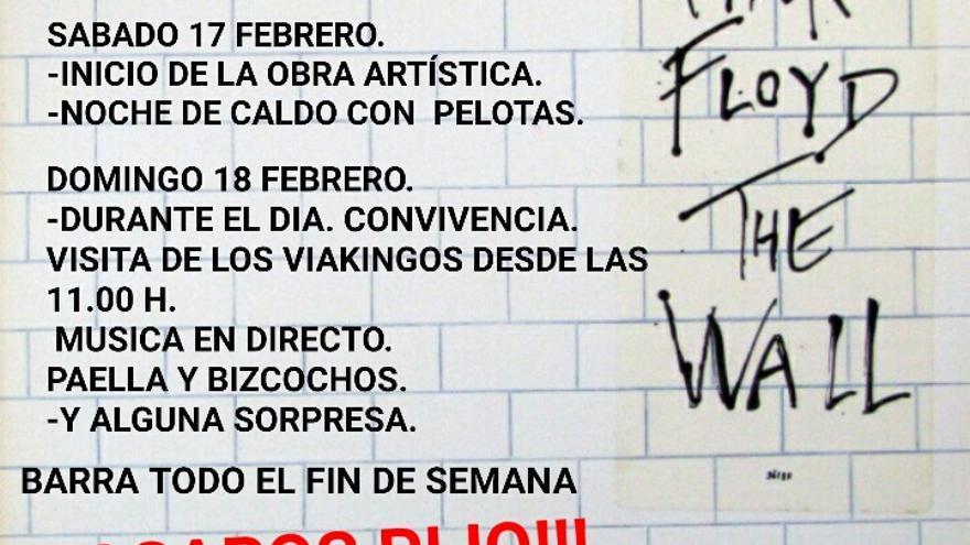 """Un mural inspirado en """"The Wall"""" conmemora la lucha Pro Soterramiento"""