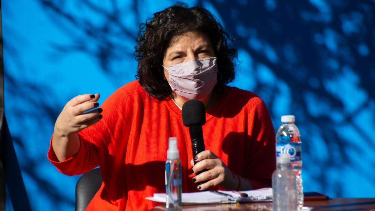 La ministra de salud de la Nación, Carla Vizzotti.