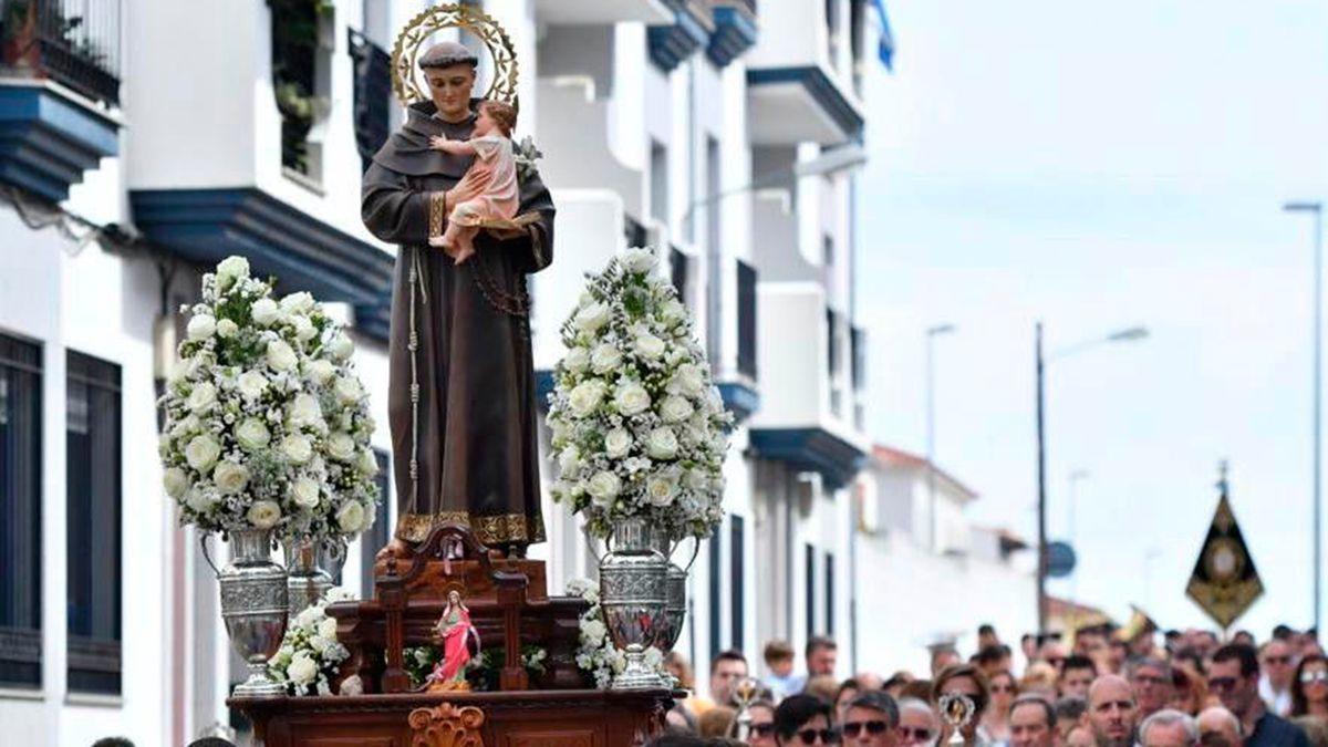 Procesión de San Antonio en Pozoblanco en una edición anterior.