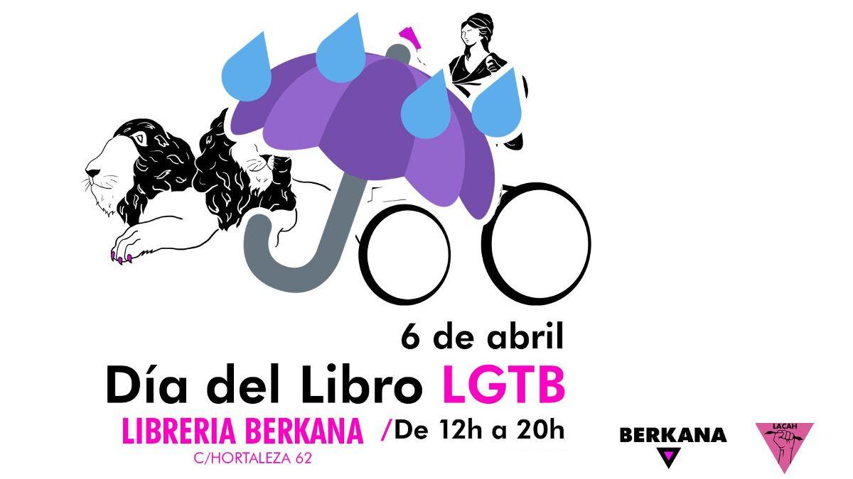 Cartel deI Día del Libro LGTB en Librería Berkana | BERKANA
