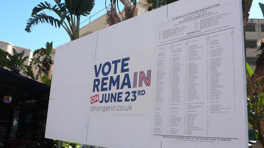 Campaña por el no al Brexit en Gibraltar /Foto: Francisco Jiménez