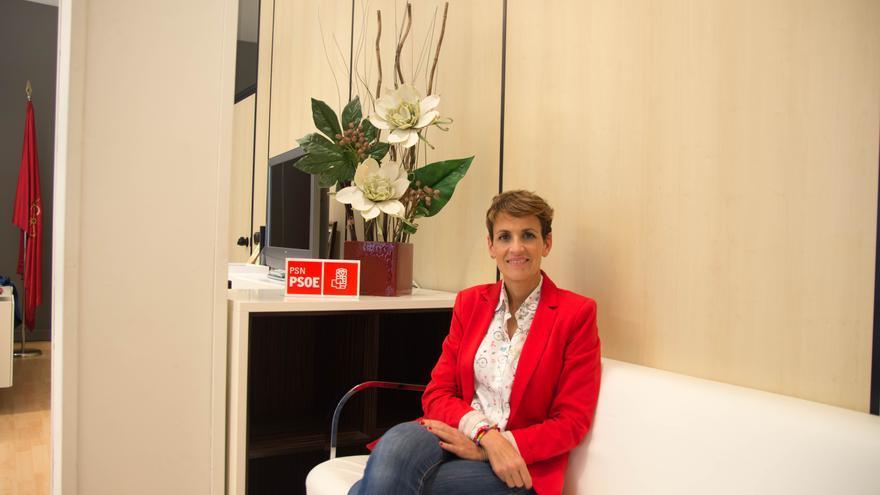 María Chivite, candidata del PSN a la presidencia del Gobierno de Navarra.