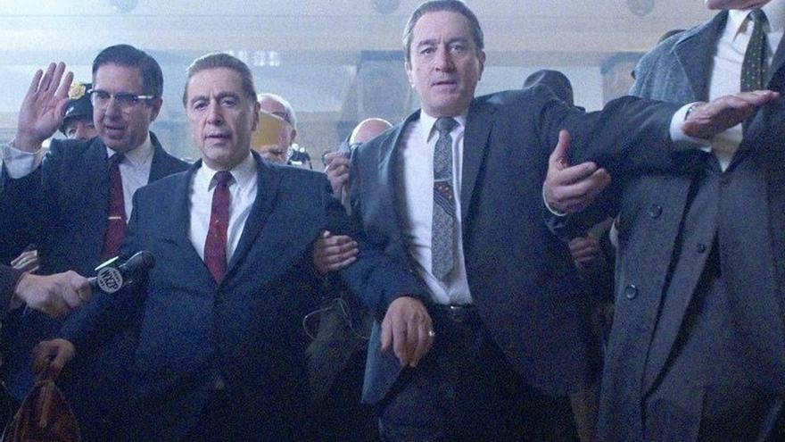 Al Pacino interpreta a Jimmy Hoffa y Robert De Niro a Frank Sheeran en 'El Irlandés'