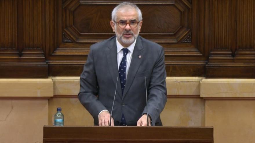 El líder de Cs en Catalunya, Carlos Carrizosa, en el pleno del Parlament del 2 de diciembre de 2020