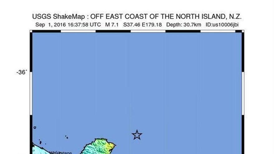 Un terremoto de 7,1 grados Richter sacude el noreste de Nueva Zelanda