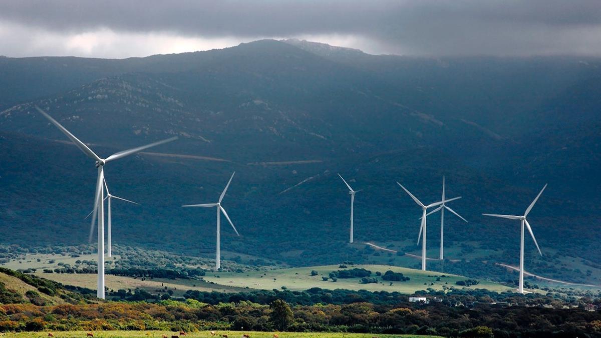 Aerogeneradores de renovables.