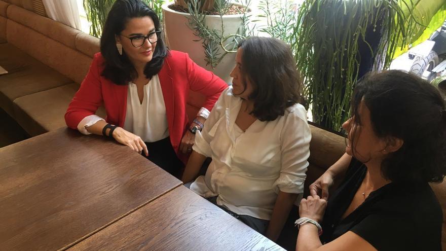 Las 3 CEOs en un momento de la entrevista