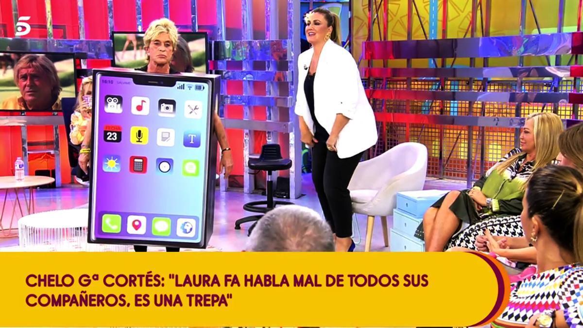 Chelo García Cortés en su vuelta a 'Sálvame'