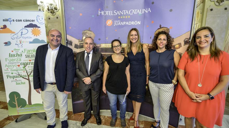 José Jerez, Manuel Padrón, Olga Díez, Catalina Alemany, África Padrón y Águeda Borges.