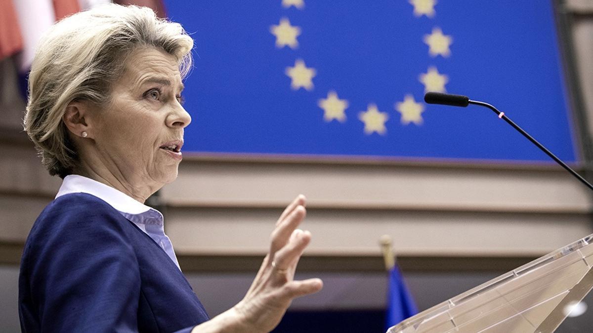 La presidenta de la Comisión Europea, Ursula van der Leyen